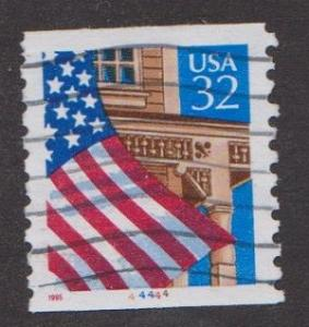 US #2913 Flag over Porch Used PNC Single plate #44444