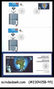 SOUTH AFRICA - 1975 SATELLITE COMMUNICATION - SET OF FDC ENVELOPE & BROCHURE