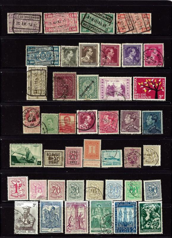Belgium #1 43 different mint and used stamp.  Includes a few Austria
