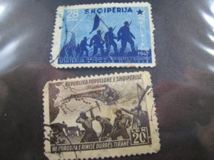 ALBANIA 1947 - SCOTT # 404-405   Used