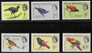 British Honduras Birds short set of 1962, Scott 167-174 MLH (2 scans)