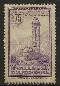 Andorra (French)  (1932)  - Scott # 44,   MH