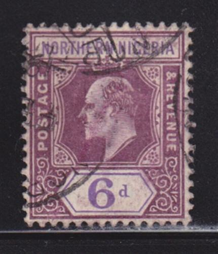 Northern Nigeria 24 VF-used neat cancel nice colors scv $ 65 ! see pic !