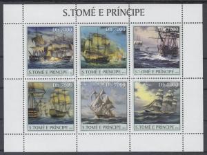 Sao Tomé e Príncipe stamp Ships minisheet MNH 2003 Mi 2188-2193 WS144784
