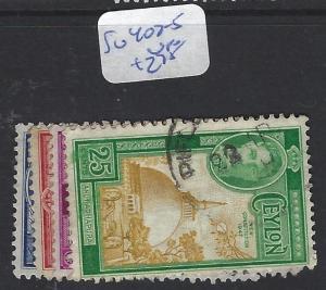 CEYLON (P1909B) KGVI   SG 402-5   VFU