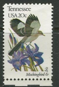 USA - Scott 1994 - State Birds & Flowers - 1982 - MNG - Single 20c Stamp