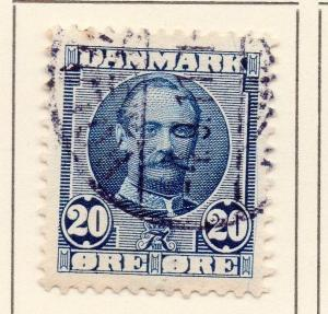 Denmark 1907-12 Early Issue Fine Used 20ore. 149706