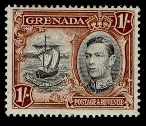 GRENADA GVI SG160a, 1s black & brown, M MINT.