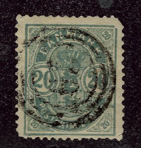 Denmark #37 Used F-VF corner nibbed SCV$70...choose your price!