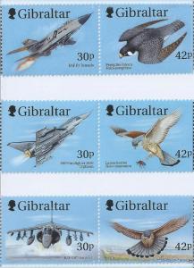 Gibraltar Wholesale-Aircraft & Raptors, 10 Sets #812a-4a at 2/3 Face!