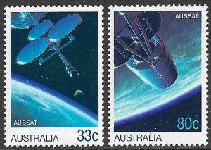 AUSTRALIA 1986 AUSSAT Satellites SPACE Set Sc 972-973 MNH