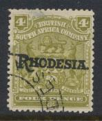British South Africa Company / Rhodesia  SG 105 Used OPT  Rhodesia see scan