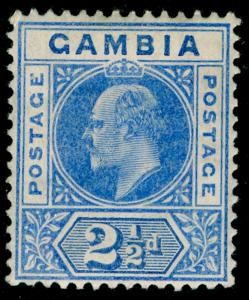 GAMBIA SG60, 2½d bright blue, LH MINT. Cat £14.