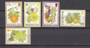 J26598 JLstamps 1994-5 bermuda hv,s of set mnh #675-6,680,683-4, $31.00+scv