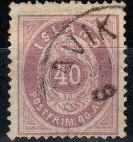 Iceland #18 F-VF Used  CV $57.50 (X1137)