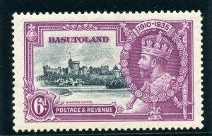 Basutoland 1935 KGV Silver Jubilee 6d DOT BY FLAGSTAFF MLH. SG 14h.