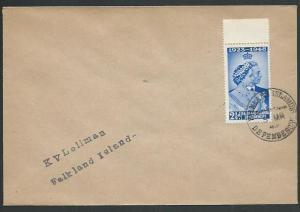 FALKLAND DEPS 1949 cover SOUTH SHETLANDS cds...............................61432