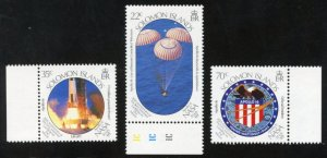 Solomon Islands Scott 643-45 - MVFNHOG - Moon Landing Anniversary - SCV $4.00