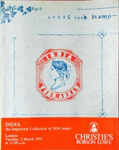 Auction Catalogue INDIA 1854 ISSUES
