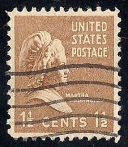805 1 1/2 cent Washington Stamp used EGRADED SUPERB 99 XXF