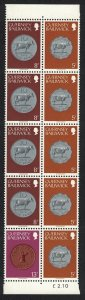 Guernsey Coins booklet pane 5p+8p+13p UNFOLDED SG#181b