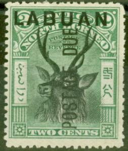 Labuan 1901 2c Black & Green SGD1 Mtd Mint