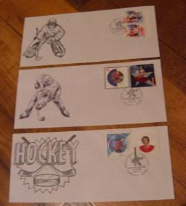 Canada Special Hockey Stamp show cover - Qtt 3 - Goaler - Player --Value$60.00