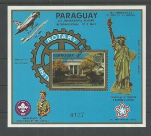 1985 Scouts Paraguay Rotary statue Liberty SS 'MUESTRA'