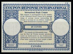 Canada, 15 cents Coupon Response International, unused