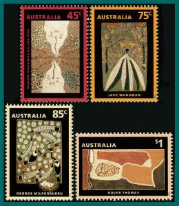 Australia 1993 Dreamings, Paintings, MNH #1307-1310,SG1388-SG1391