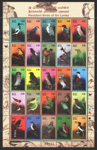 Sri Lanka. 2003. ml 1410-34. Birds, fauna. MNH.