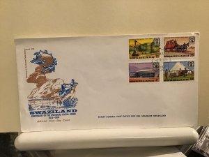 Swaziland FDC 1974 U.P.U.  official multi stamp cover R25698