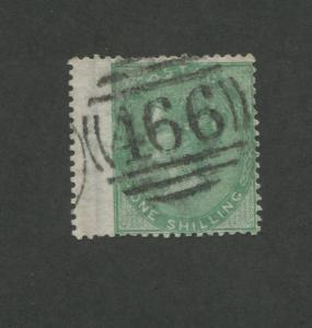 1856 Great Britain United Kingdom Queen Victoria 1 Shilling Postage Stamp #28