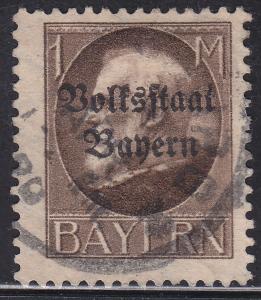Bayern 150 Hinged 1919 King Ludwig III O/P