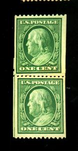 U.S. #348 MINT Paste up Pair F-VF OG NH Cat $225