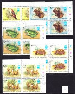Madagascar Scott 532-535, C145  complete set  F to VF CTO no gum as issued.