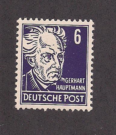 GERMANY - DDR SC# 123 F-VF LH 1953