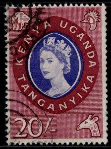 KENYA UGANDA TANGANYIKA QEII SG198, 20c violet-blue & lake, FINE USED. Cat £30.