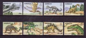 Kiribati-Sc#894-901-Unused NH set-Dinosaurs-Pre-Historic animals-2006--please no