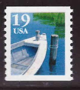 USA Scott 2529 MNH** 19c fishing boat coil stamp