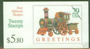 USA Scott 2718a Christmas Toys Booklet BC84 CV $17.50