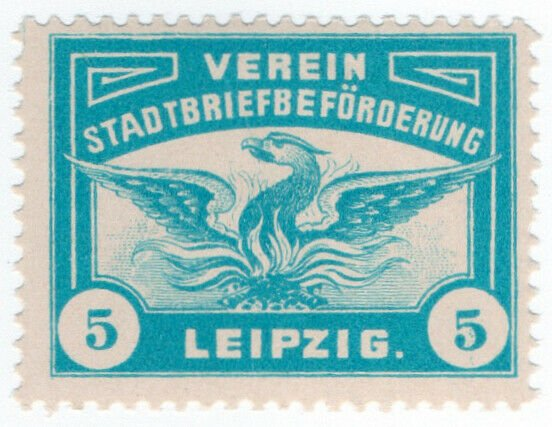 (I.B-CK) Germany Local Post : Leipzig 5pf (Phoenix)