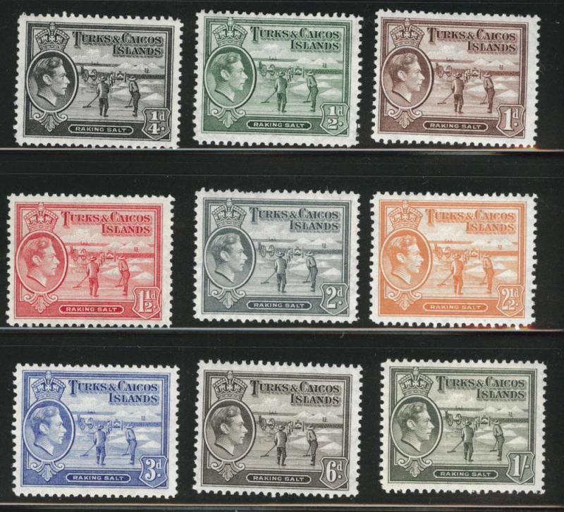 Turks & Caicos Scott 77-88 MNH** short set