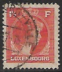 Luxembourg # 226 - Grand Duchesse Charlotte - 1.50F - used...(KlGr)