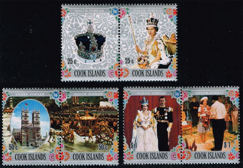 Cook Islands #465-467 Queen Elizabeth 2 Set; Unused (3.35)