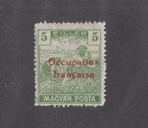 HUNGARY # IN40 VF-MNH FRENCH OCCUPATION O/PRINT CAT VALUE $55+