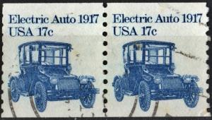 SC#1906 17¢ Electric Auto Coil Pair (1981) Used