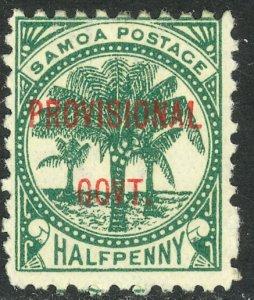 SAMOA 1899 1/2d PROVISIONAL GOVT Overprint Issue Sc 31 MH