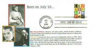6° Cachets 4335 Celebrate Born July 10 Bethune Arthur Ashe Tennis