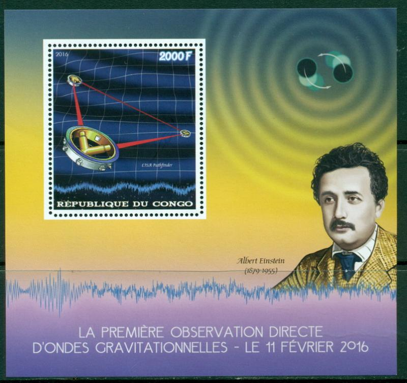 CONGO - 2016 - Space, Einstein - Perf S/Sheet #1  - MNH